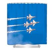 Thunderbirds And Blue Sky  Shower Curtain