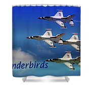 Thunderbirds Shower Curtain