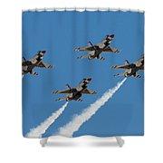 Thunderbirds Diamond Flyover Shower Curtain
