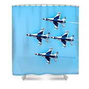 Thunderbirds Flying Over Shower Curtain