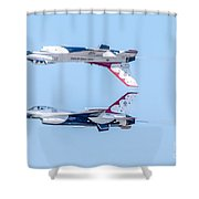 Thunderbirds In A Dangerous Formation Shower Curtain