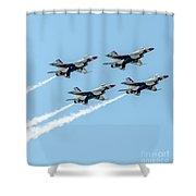 Thunderbirds In Formation Shower Curtain
