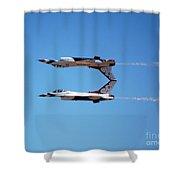 Thunderbirds Jet Team Perfect Symmetry Shower Curtain