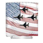 Thunderbirds Shower Curtain