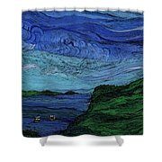 Thunderheads Shower Curtain by First Star Art