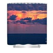 Thundering Sunset Shower Curtain