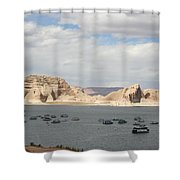 Thunderstorm Atmosphere Over Lake Powell Shower Curtain