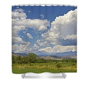 Thunderstorm Clouds Boiling Over The Colorado Rocky Mountains Shower Curtain