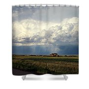 Thunderstorm On The Plains Shower Curtain