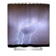 Thunderstorm Triple Threat Shower Curtain