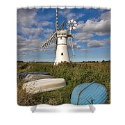 Thurne Dyke Windpump Norfolk Shower Curtain