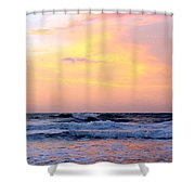 Topsail Island Pastel Sunrise Shower Curtain