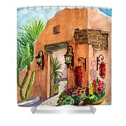 Tia Rosa Time Shower Curtain