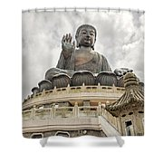 Tian Tan Buddha Shower Curtain