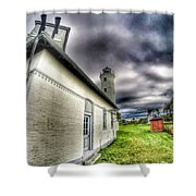 Tibbits Point Lighthouse Shower Curtain