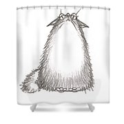 Tibby Good Mood Shower Curtain