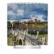 Tiber River In Rome Shower Curtain