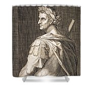 Tiberius Caesar Shower Curtain by Titian