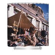 Tibet Market At Gyantse By Jrr Shower Curtain