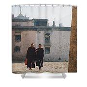 Tibet Monks 6 Shower Curtain