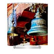 Tibetan Bells Shower Curtain