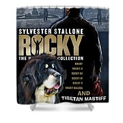 Tibetan Mastiff Art Canvas Print - Rocky Movie Poster Shower Curtain