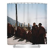 Tibetan Monks 2 Shower Curtain