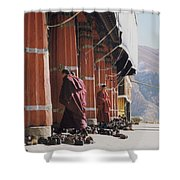 Tibetan Monks At Sera Shower Curtain