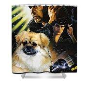 Tibetan Spaniel Art - Blade Runner Movie Poster Shower Curtain