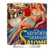 Tibetan Spaniel Art - Salome Movie Poster Shower Curtain