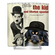Tibetan Spaniel Art - The Kid Shower Curtain