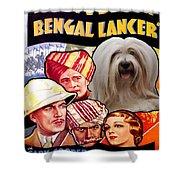 Tibetan Terrier Art - The Lives Of A Bengal Lancer Movie Poster Shower Curtain