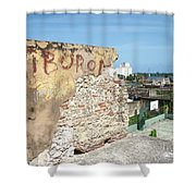 Tiburon And Basketball Court At The Top Of The Fort Wall Shower Curtain