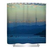 Tiburon's View Of Sutro Tower Shower Curtain