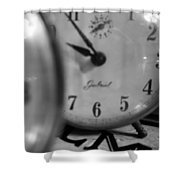 Tick Tock Goes The Clock Shower Curtain