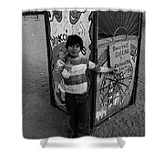 Ticket Booth Traveling Carnival Us Mexico Border Naco Sonora Mexico 1980 Shower Curtain