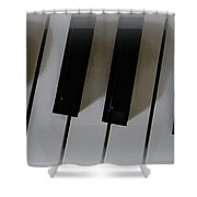 Tickle The Ivories Shower Curtain