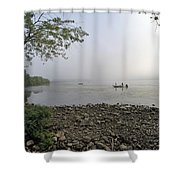 Ticonderoga Bass Fishermen Shower Curtain