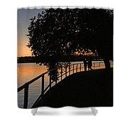 Tidal Basin Sunset0259 Shower Curtain