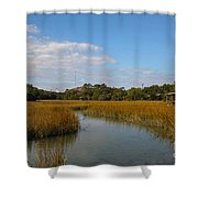 Tidal Creek Ebb And Flow Shower Curtain