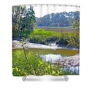 Tidal Creek In The Savannah Shower Curtain