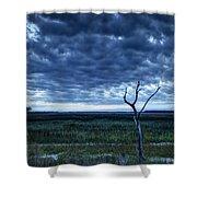 Tidal Marsh View Shower Curtain