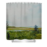 Tidal Plains Shower Curtain
