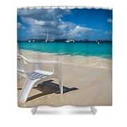 Tidal Seat Shower Curtain