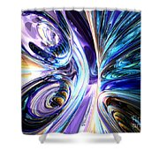 Tide Pool Abstract Shower Curtain