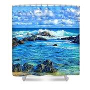 Tide Pool Near Hana Maui Shower Curtain