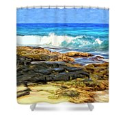 Tide Pools At Magic Sands Shower Curtain