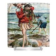 Tide Pools At The Beach Shower Curtain