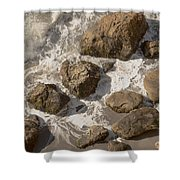 Tide Pools Of Shell Beach California Shower Curtain