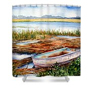 Tides Out Shower Curtain